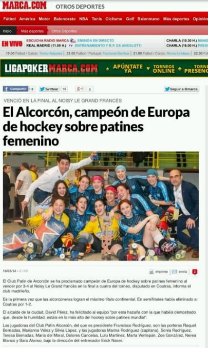 alcorcon campeon europa patines